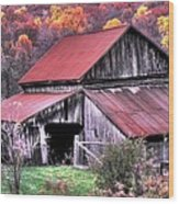 West Virginia Country Roads - Nearing The Threshold Of Yet Another Winter Wood Print