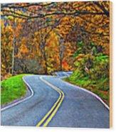 West Virginia Curves 2 Oil Wood Print