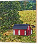 West Virginia Line Art Wood Print