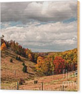 West Virginia Rural Landscape Fall Wood Print