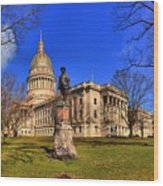 West Virginia State Capitol Building Wood Print