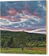 West Virginia Sunset II Wood Print