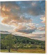 West Virginia Sunset Wood Print