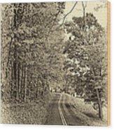 West Virginia Wandering Sepia Wood Print