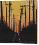 Westbound Wood Print