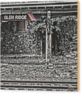 Westbound Track At Glen Ridge Station Wood Print