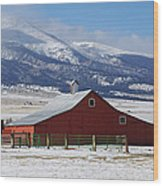 Westcliffe Landmark - The Red Barn Wood Print