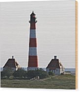 Westerhebersand Lighthouse  I- North Sea - Germany Wood Print