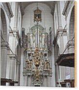 Westerkerk Interior In Amsterdam Wood Print
