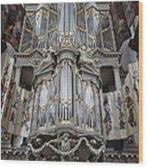 Westerkerk Organ In Amsterdam Wood Print
