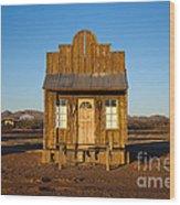 Western Building Wood Print
