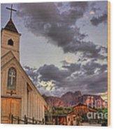 Western Chapel Wood Print