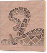 Western Diamondback Rattlesnake Wood Print