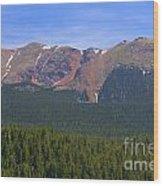 Western Face Pikes Peak Wood Print