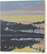 Western Lake Sunrise Wood Print