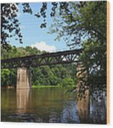 Western Maryland Railroad Crossing The Potomac River Wood Print