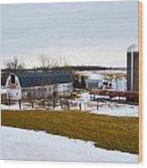 Western New York Farm As An Oil Painting Wood Print