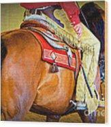 Western Pleasure Wood Print