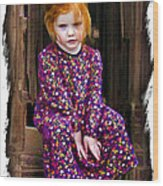 Western Princess Wood Print