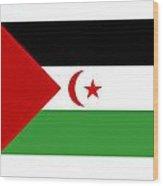 Western Sahara Flag Wood Print
