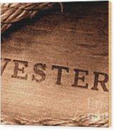Western Stamp Branding Wood Print