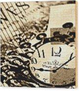 Western Time Wood Print