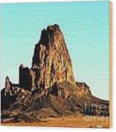 Western Usa Butte Wood Print