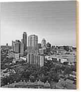 Western View Of Austin Skyline Wood Print