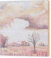 Western Vista - Rain Wood Print