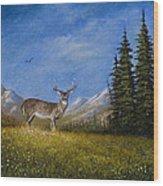 Western Whitetail Wood Print