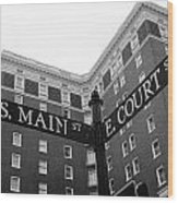Westin Poinsett Behind S.main And E.court St Wood Print
