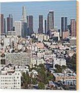 Westlake And Los Angeles Skyline Wood Print