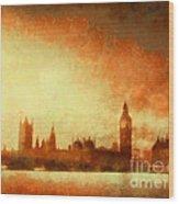 Westminster At Dusk Wood Print