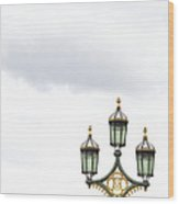 Westminster Bridge Lamppost Wood Print