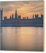 Westminster Nights Wood Print