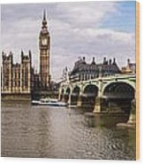 Westminster Pano Color Wood Print
