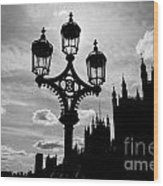 Westminster Silhouette Wood Print