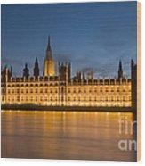 Westminster Twilight II Wood Print