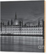Westminster Twilight Iv Wood Print