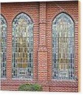 Westminster Windows Wood Print