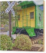 Weston Railroad Crossing Wood Print