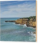 Westward Ho Sailing Around Castelo Points Algarve Portugal Wood Print by John Kelly