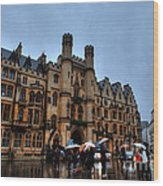 Wet And Miserable London Wood Print