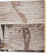 Wet Feet Prints Wood Print