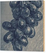 Wet Grapes Five Wood Print