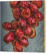 Wet Grapes Four Wood Print