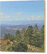 Wet Mountain Valley And Beyond Wood Print