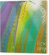 Wet Paint 7 Wood Print