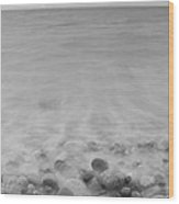 Wet Pebbles Wood Print