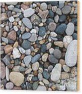 Wet Pebbles Wood Print by Margaret McDermott